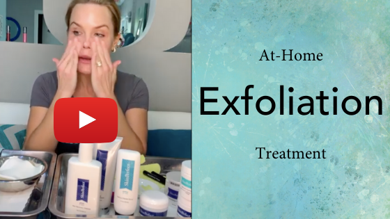 Image of at-home exfoliation treatment video
