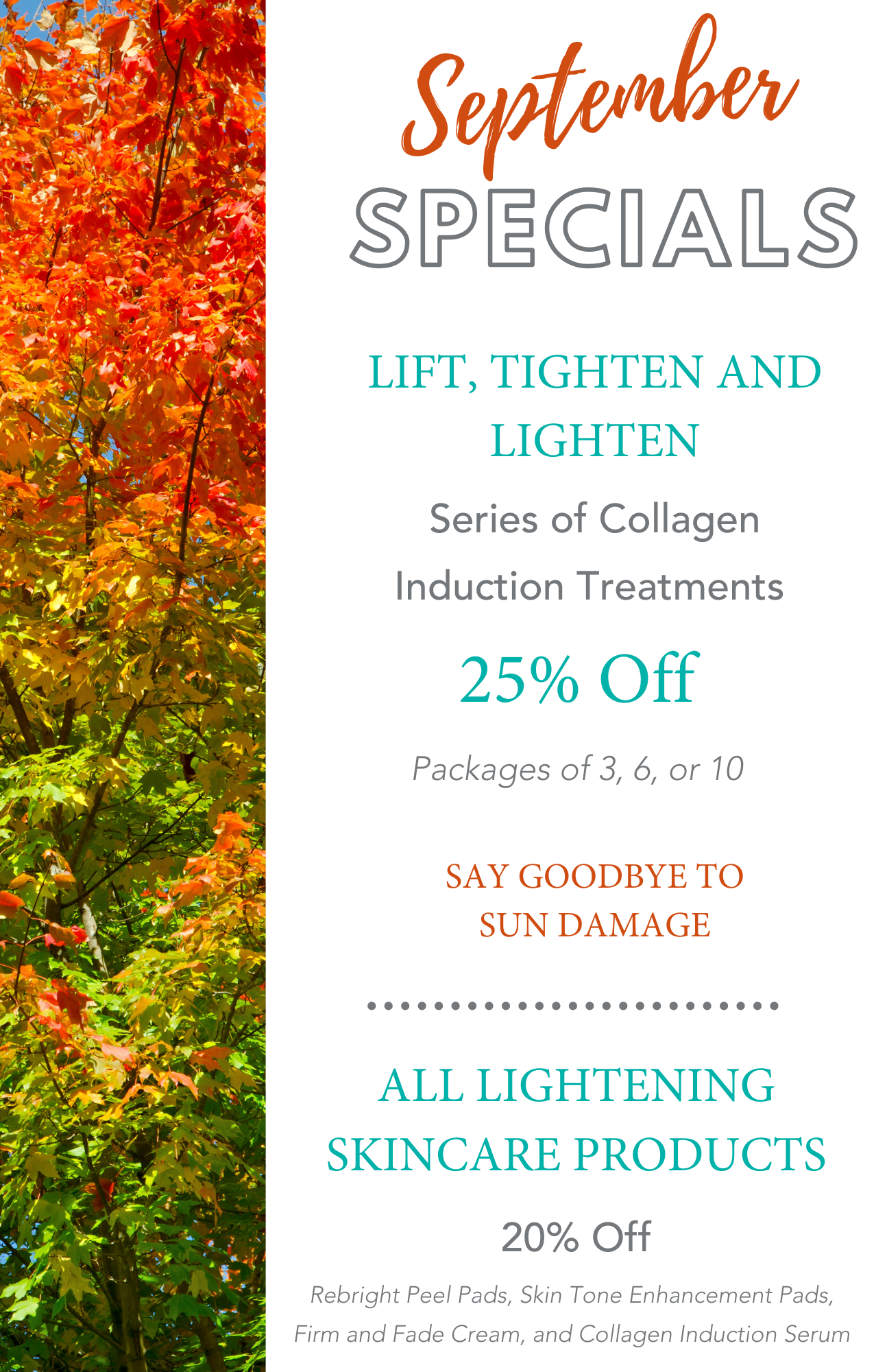 image of Skin Perfect Spas September specials